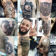 Mais um pouco do trabalho ae galera. Alguns recentes outros nem tanto. Mais todos MEUS.  Criações exclusivas e reproduções de imagens realistas... Copiar não é normal venha fazer uma Tattoo com personalidade. Agendamentos: 62 8593.8875 #rafaelplai #tattoodaily #tattoo #tattoolife #blackandgray #blackwork #maori #tribal #realismo #realistictattoo #avalia by rafaelplai http://ift.tt/247qzBx