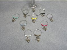 10 Bunch of Grapes Wine Charms by Alisonsjewelryshop on Etsy