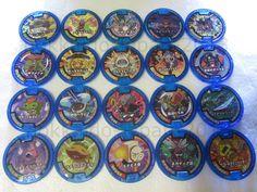 Yo-kai Watch Lot 20 Medals Holo Blue Soultimate Moves Medal JAPAN Version Yokai  #BANDAIJAPAN