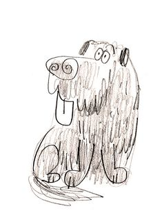 Doodle Sketch, Doodle Drawings, Animal Sketches, Animal Drawings, Watercolor Beginner, Animal Doodles, Dog Illustration, Dog Paintings, Fauna