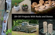 Craft, Home and Garden Ideas - DIY Projects With Rocks and Stones