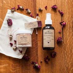 Set the mood with this Herbal Valentine's Day Kit by Original Organics or Make Your OWN -- Rose Massage Oil recipe in the post!