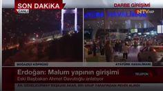 """Davutoğlu NTV'de  Darbe girişiminin yaşandığı gece Ahmet Davutoğlu NTV canlı yayına bağlandı. Darbe girişimine tepki gösteren Davutoğlu """"Onurumuz için sesimizi yükseltme gecesidir"""" dedi."""