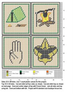 1000 Images About Cross Stitch Boy Girl Scouts On