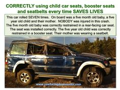 Rear-facing is the SAFEST way for kids under 4 to travel in the car. Booster Car Seat, Info Graphics, Face Down, Save Life, Car Seats, Safety, Children, Diy, Travel