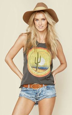 DESERT SUNSET MUSCLE TEE | @ShopPlanetBlue