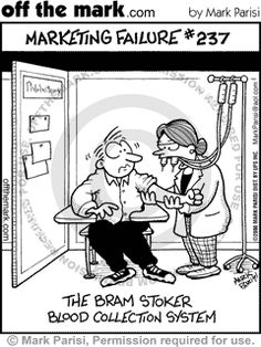 Funny! This is great halloween phlebotomy humor!