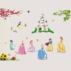 Snow+White+7+Princess+Fairy+Tale+World+Cartoon+Wall+Stickers+DIY+Family+Living+Room+Bedroom+Kindergarten+Wall+Decals+–+AUD+$+10.21