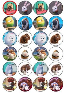 secret life of pets cup cake topper and 28 similar items