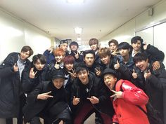 Just so many awesome good looking guys together (now if EXO could sneak up on them....)  (Embedded image permalink)