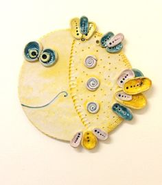 The Fish / Ceramic Wall Decor/ Made To Custom Order/ reserved for Masha click the image or link for more info. Slab Pottery, Ceramic Pottery, Pottery Art, Ceramic Art, Clay Projects, Clay Crafts, Clay Fish, Kids Clay, Pottery Sculpture