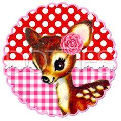 DFC45 | Full Color Strijkapplicatie Vintage Bambi