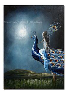 Fairy on Peacock (Etsy)