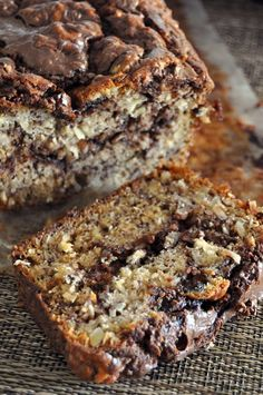 Banana And Nutella Bread -- This is really a delicious and moist cake, and nutella makes it so special and makes it at the same time not too much bananaish and even more bananaish.