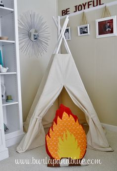 Check out all these kids teepees we found and get some inspiration for your children's rooms!
