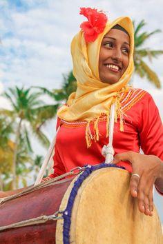 Maldivian Bodu Beru Drummer Photo by Melanie Hoefler -- National Geographic Your Shot