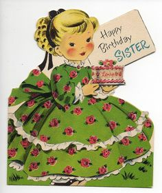 Vintage Greeting Card 24 Happy Birthday Sister Norcross | eBay