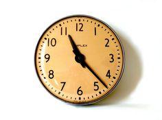 Classic Vintage Schoolhouse Large Simplex Clock in Logan Square, Chicago, IL, USA ~ Krrb
