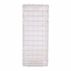 1 pc Kombinasi 60 Lubang Pemegang Penyimpanan Removable Plastik Berdiri Laboratorium Uji Tabung Rak Tabung Rak Putih Dilepas