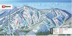 Beaver Mountain, Ski The Beav Ski Mountain, Mountain Trails, Mountain Resort, Utah Ski Resorts, Beav, Trail Maps, Floating Frame, Snowboarding, Customized Gifts