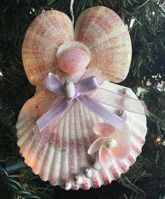 Purple Glitter Flower Angel