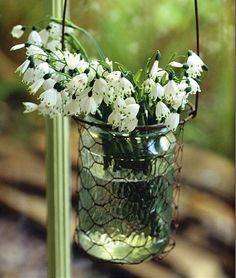 pretty flowers in a pretty container ...