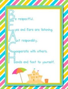 Classroom Management Behavior Pack- Tropical Beach Theme