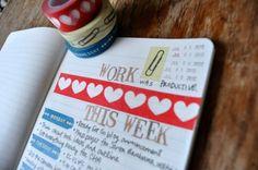 Amy Tangerine's workweek mini with washi tape
