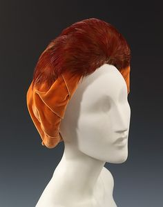 Hat Designer: Rose Valois (French) Date: ca. 1954 Culture: French Medium: silk, feathers Accession Number: 2009.300.2607