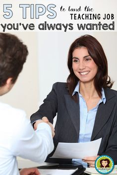 5 tips to land the teaching job you've always wanted. 1) Create a Professional Online Presence 2.) Do Your Homework 3.) Be Authentic 4.) Showcase your Potential 5.) Close the Deal.  Click through to read more! #interview #getthejob #teaching