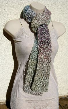 Purple and Blue Multicolored Scarf by MeganERisk on Etsy, $15.00