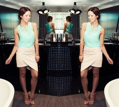 LEATHER & SILK PASTELS (by Friend in Fashion *) http://lookbook.nu/look/4324015-LEATHER-SILK-PASTELS