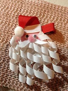 63 Ideas for diy christmas bows hair ribbon sculpture Ribbon Art, Ribbon Crafts, Ribbon Bows, Diy Crafts, Ribbon Hair Clips, Ribbon Hair Bows, Diy Ribbon, Flower Hair Clips, Christmas Bows