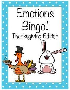 "This activity is designed to help students recognize 8 different emotions: scared, silly, happy, sad, mad, excited, confused, and embarrassed.This download includes:- Directions page.- A worksheet with the 8 emotions depicted on cartoon children's faces for students who may need to ""practice"" each emotion.- 25 different bingo cards featuring each emotion.- Squares to cut out for students to use as markers.- A worksheet where students are asked to identify 1-3 things that make them feel each…"