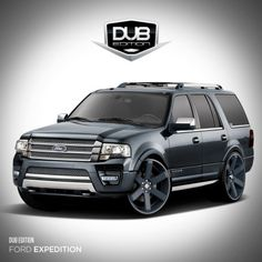 2015 Ford Expedition by DUB Magazine: The 2015 Ford Expedition by DUB Magazine has amenities that bring an added level of style and sophistication. The exterior has custom mesh accents, front grille and lighting with 26-inch DS644 concave wheels from Dropstars Wheels, and Pirelli tires. Custom DUB Edition badging, tinted windows and an integrated radar detection system are featured as well.