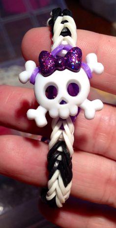 Monster high skeleton rubber band bracelet by RoxStarJewelry, $3.00