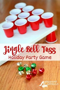 Party Games - Jingle Bell Toss Holiday Party Games - Jingle Bell Toss - fun game to play with kids on Christmas!Holiday Party Games - Jingle Bell Toss - fun game to play with kids on Christmas! Fun Christmas Party Ideas, Christmas Pajama Party, School Christmas Party, Christmas Fun, Ideas Party, Game Ideas, Office Christmas Party Games, Christmas Party Decorations Diy, Christmas Games For Family