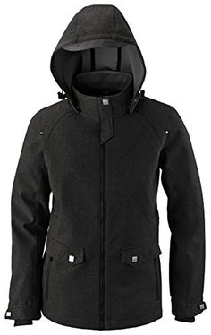 North End Ladies 3-Layer Light Textured Soft Shell Jacket, Black, XX-Large