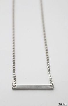 BLK AND NOIR JEWELRY - Minimal Silver Bar Necklace, $25.00 (http://www.blkandnoir.com/minimal-silver-bar-necklace/)