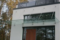 Modern glass canopies