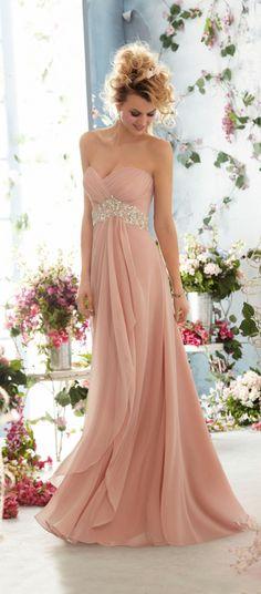 Love this blush wedding dresses