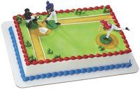 Baseball Party Boys Cake Decorating Set. Comes with four players, and two Baseball goals. Find it at http://www.ezpartyzone.com/pd_baseball_party_boys_cake_decorating_set.cfm