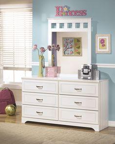 Kids Bedroom: Lulu Dresser by Ashley Furniture at Kensington Furniture. Great for a little girl's bedroom!