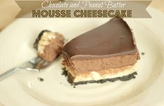 The Unsophisticated Kitchen: Chocolate & Peanut Butter Mousse Cheesecake