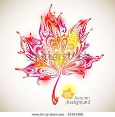 tattoo idea abstract autumn leaf background