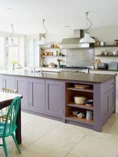 Purple Kitchen Decorating Ideas - Purple Kitchen Decorating Ideas, Living Beautifully Our Very First Home In California Purple Kitchen Cabinets, Kitchen Cabinets Color Combination, Kitchen Cabinet Colors, Green Kitchen, Painting Kitchen Cabinets, Kitchen Paint, Ikea Kitchen, Kitchen Decor, Summer Kitchen