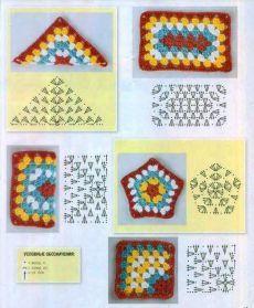 Transcendent Crochet a Solid Granny Square Ideas. Inconceivable Crochet a Solid Granny Square Ideas. Half Square Triangle Quilts Pattern, Granny Square Häkelanleitung, Crochet Triangle, Crochet Motifs, Granny Square Crochet Pattern, Crochet Diagram, Crochet Stitches Patterns, Crochet Chart, Crochet Granny