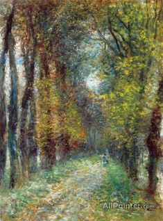 Pierre Auguste Renoir The Covered Lane Oil Painting Reproductions for sale Pierre Auguste Renoir, Post Impressionism, Impressionist Paintings, Art Parisien, August Renoir, Renoir Paintings, Oil Painting Reproductions, Claude Monet, Art History