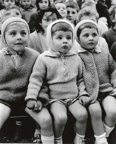 The delight and entertainment seen on these children's faces watching a puppet show in 1963.
