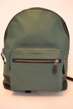 595 NWT COACH WEST MENS LARGE PEBBLED LEATHER BACKPACK in GREEN  fashion   clothing   dbc25013b2b98